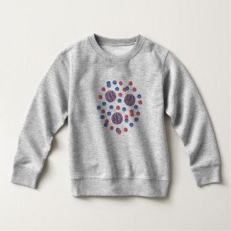 Red Blue Balls Toddler Sweatshirt