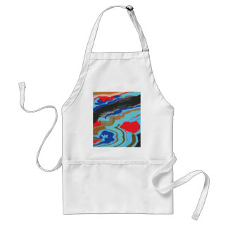 Red Blue Camouflage Standard Apron