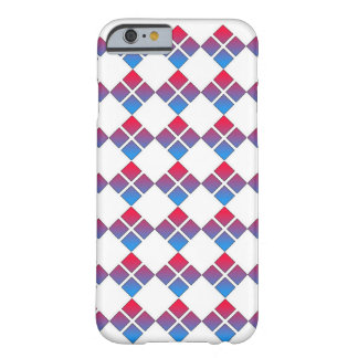 Red Blue Diamond 4 Square Barely There iPhone 6 Case