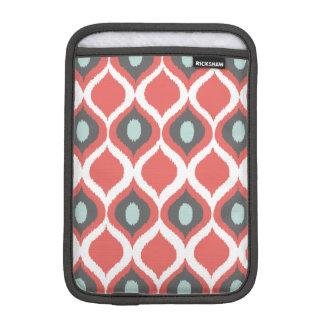 Red Blue Gray Geometric Ikat Tribal Print Pattern iPad Mini Sleeve