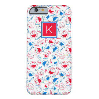 Red & Blue Pattern | Monogram Barely There iPhone 6 Case
