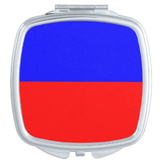 Red & Blue Square Compact Mirror