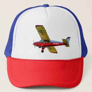 Red Blue Yellow Personal Aircraft With Your Name Trucker Hat