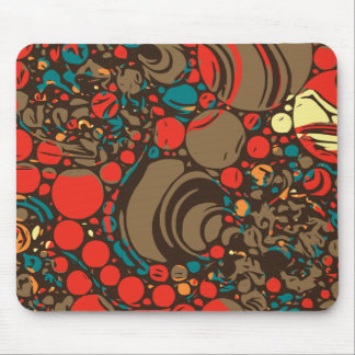 Red Brown Orange Abstract Mouse Pad