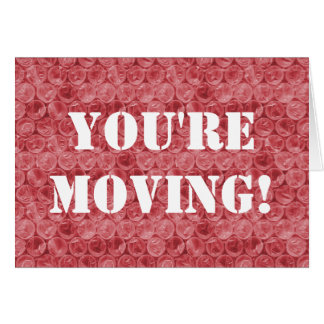 Red bubble wrap housewarming card