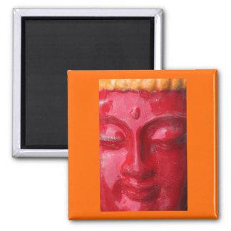 Red Buddha Magnet