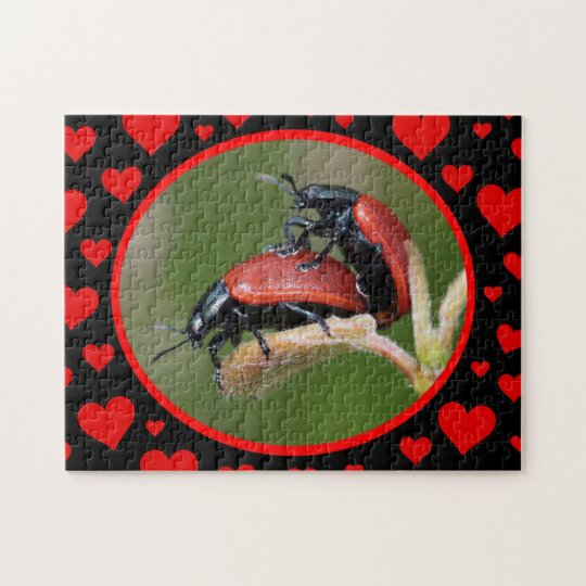 Red Bug Love Jigsaw Puzzle