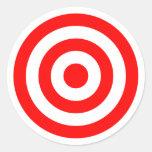 Red Bullseye Target Round Sticker