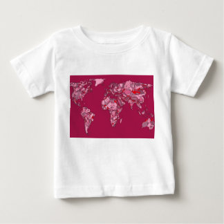 red burgundy earth map baby T-Shirt