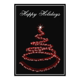 red Business Holiday Greetings Card