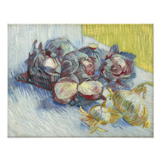 Red Cabbages and Onions by Vincent Van Gogh Photographic Print