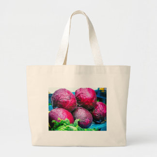 Red Cabbages Jumbo tote bags