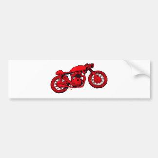 Red Cafe Racer Bumper Sticker