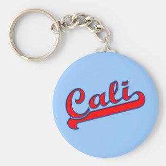 Red Cali California Logo on Blue Key Ring