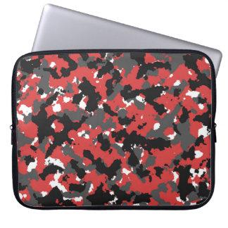 Red camo laptop sleeve