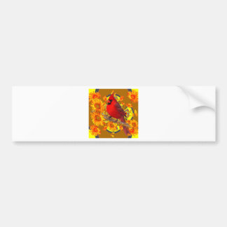 red cardinal bird bumper sticker