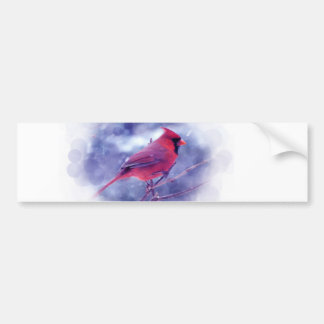 Red Cardinal in the Blizzard Bumper Sticker