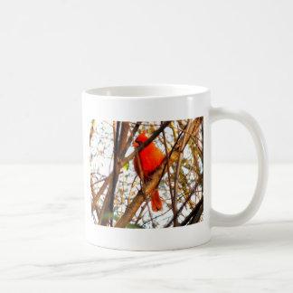 Red Cardinal Basic White Mug