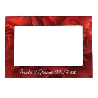 Red Carnation Floral Wedding Magnetic Photo Frames
