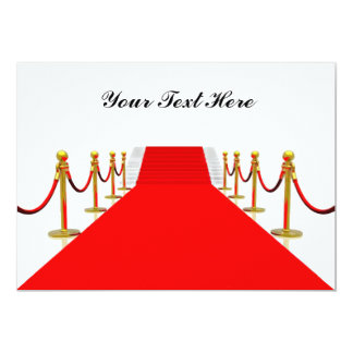 Red Carpet Customizable Blank Back 13 Cm X 18 Cm Invitation Card
