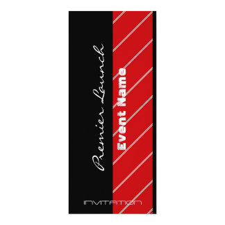 Red Carpet event red and black 10 Cm X 24 Cm Invitation Card