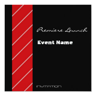 Red Carpet event red and black 13 Cm X 13 Cm Square Invitation Card