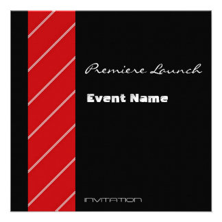 Red Carpet event red and black Custom Invitations
