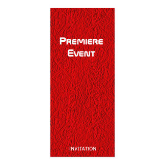 Red Carpet red and black 10 Cm X 24 Cm Invitation Card