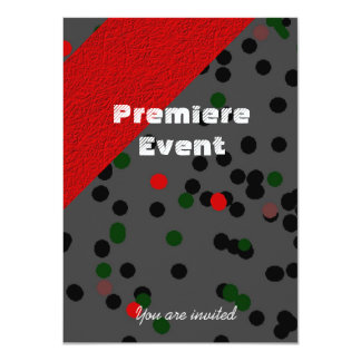 Red Carpet red and black 11 Cm X 16 Cm Invitation Card
