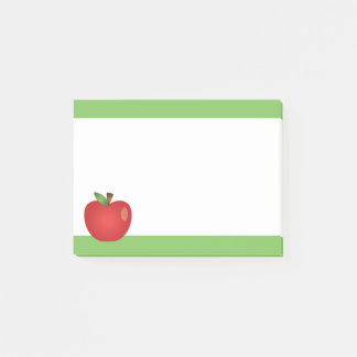 Red Cartoon Apple Post-it Notes