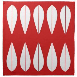 Red Cathrineholm vintage style set of napkins. Napkin