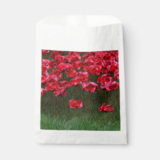 Red Ceramic Poppies Favour Bag Favour Bags