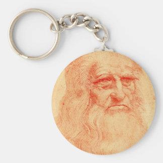 Red chalk self portrait of Leonardo da Vinci Key Ring