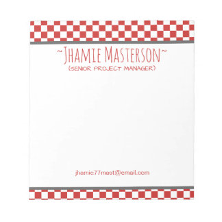 Red Checkered Notepads