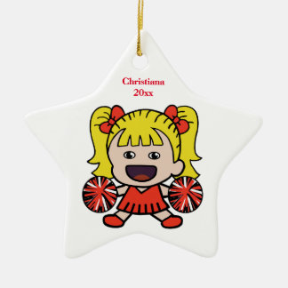 Red Cheerleader Custom Ornament