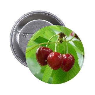 red cherries button