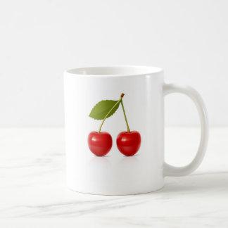 Red Cherries Basic White Mug