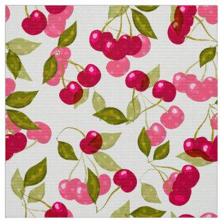Red cherries fabric