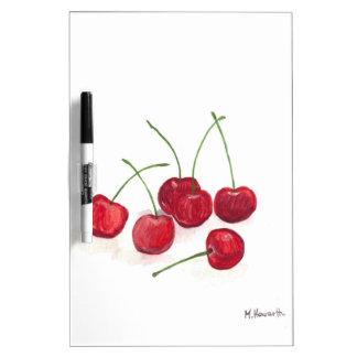 Red cherries fruit dry erase whiteboard