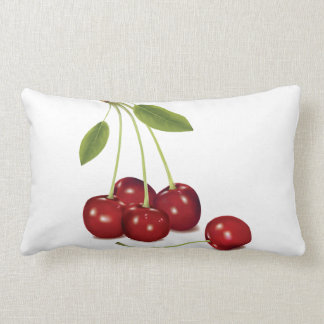 RED Cherries Lumbar Pillow