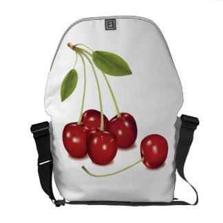 RED Cherries Medium Messenger Bag