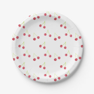 Red cherries paper plates 7 inch paper plate