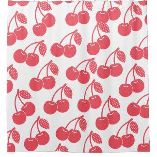 Red Cherries Pattern Shower Curtain
