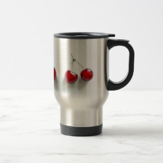 Red Cherries Stainless Steel Travel Mug