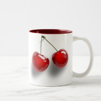 Red Cherries Two-Tone Coffee Mug