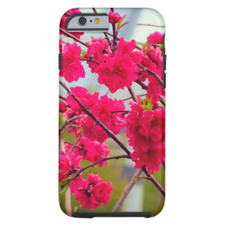 Red cherry blossom tough iPhone 6 case