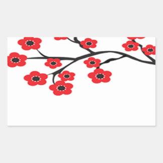 Red Cherry Blossoms Sticker