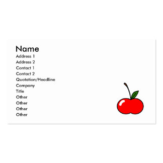 Red Cherry Business Card Template