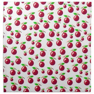 Red Cherry Fruit Pattern Napkin