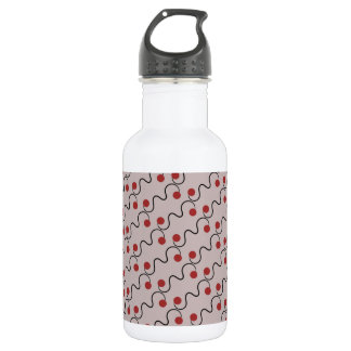 Red Cherry Pattern 532 Ml Water Bottle